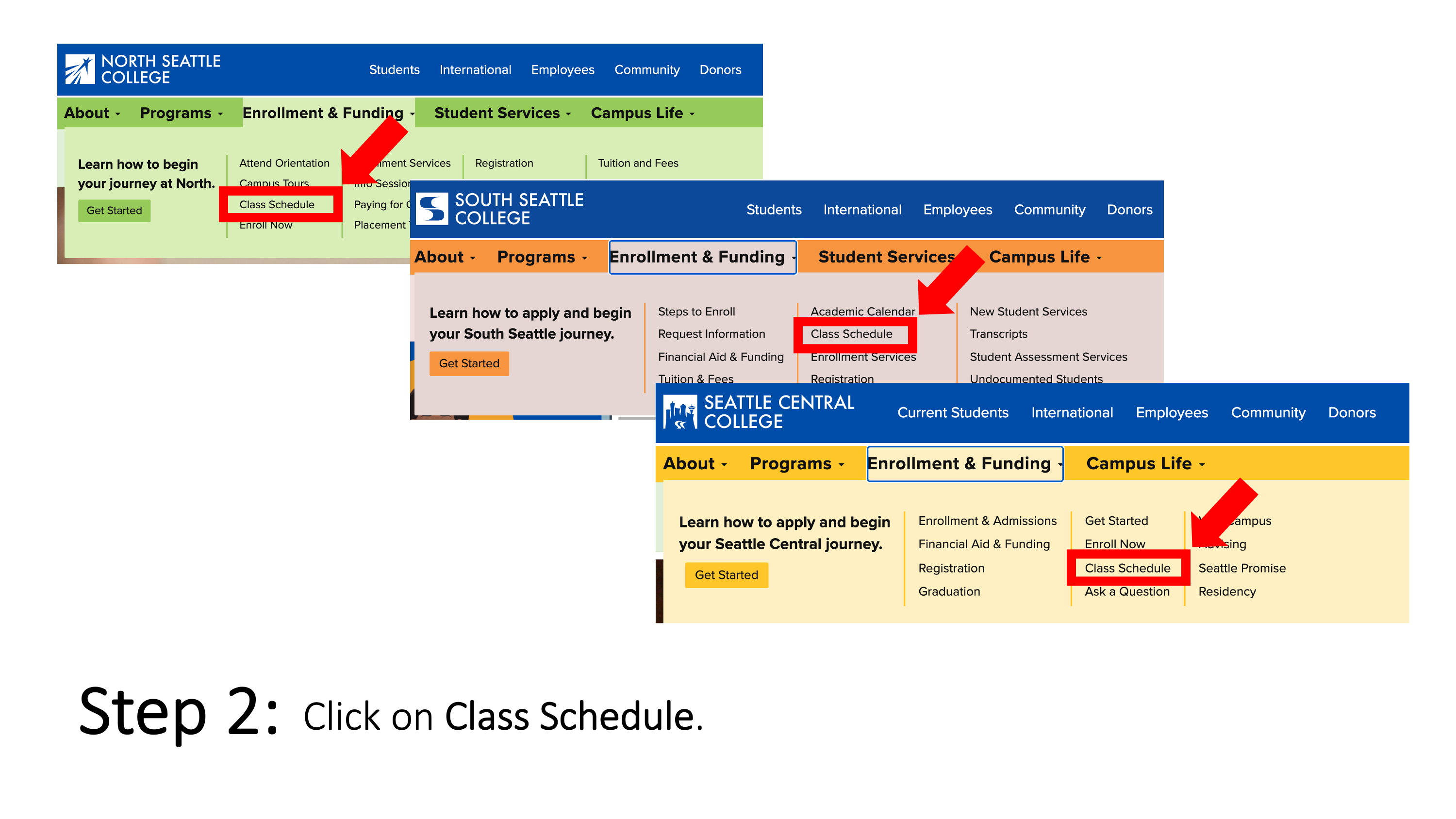 Click on Class Schedule.