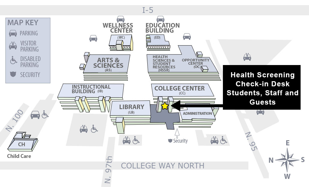 campus entry map